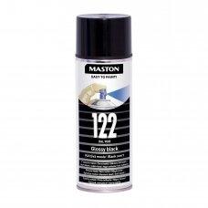 Aerozoliniai dažai MASTON 100, Juoda blizganti 122, RAL9005