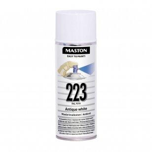 Aerozoliniai dažai MASTON 100, Balta 223, RAL9003
