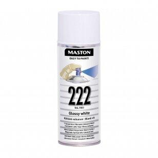 Aerozoliniai dažai MASTON 100, Balta blizganti 222, RAL9010