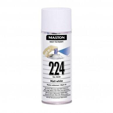 Aerozoliniai dažai MASTON 100, Balta matinė 224, RAL9003