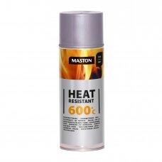 Karščiui atsparūs MASTON aerozoliniai dažai 600°С, Sidabrinė