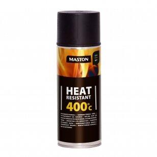 Karščiui atsparūs MASTON aerozoliniai dažai 400°С, Juoda
