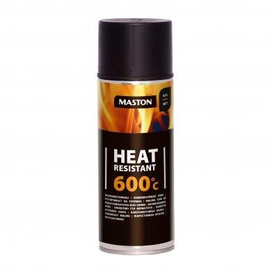 Karščiui atsparūs MASTON aerozoliniai dažai 600°С, Juoda