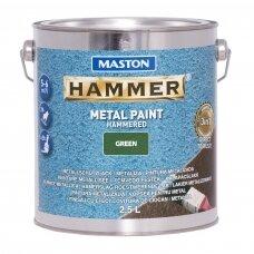MASTON antikoroziniai dažai HAMMER HAMMERED Žalia