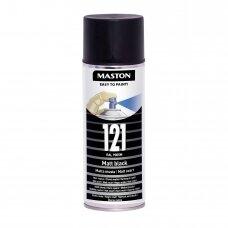 Aerozoliniai dažai MASTON 100, Juoda matinė 121, RAL9005M