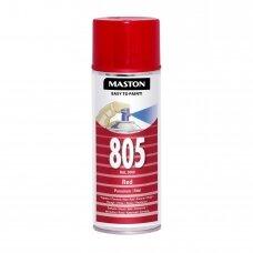 Aerozoliniai dažai MASTON 100, Raudona 805, RAL3000