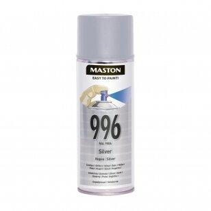 Aerozoliniai dažai MASTON 100, Sidabrinė 996, RAL9006