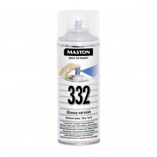 Aerozoliniai dažai MASTON 100, Lakas blizgantis 332