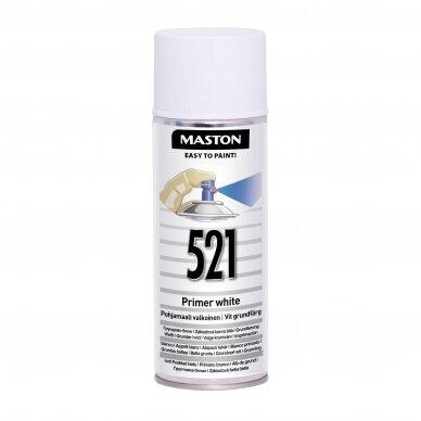 Aerozoliniai dažai MASTON 100, Gruntas baltas 521