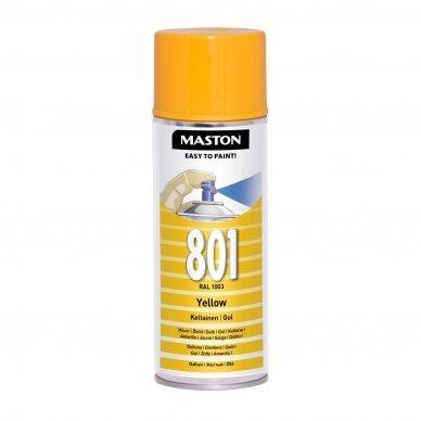 Aerozoliniai dažai MASTON 100, Geltona 801, RAL1003