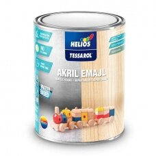 TESSAROL dažai ACRYLIC ENAMEL RAL9005 Juoda